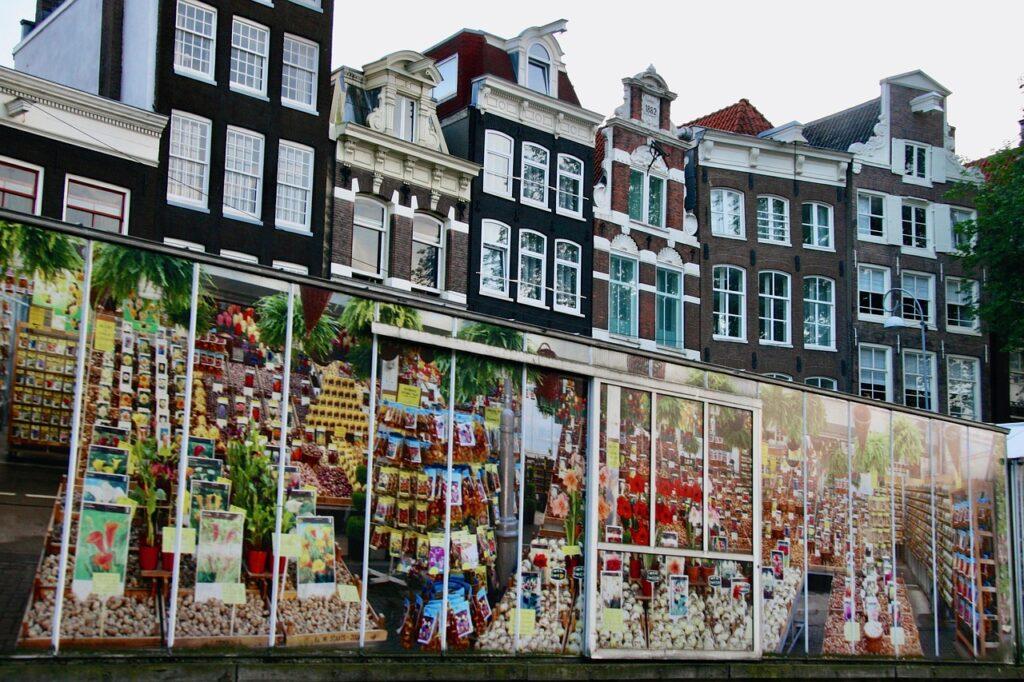 Látnivalók Amszterdam: Virágpiac (Bloemenmarkt)