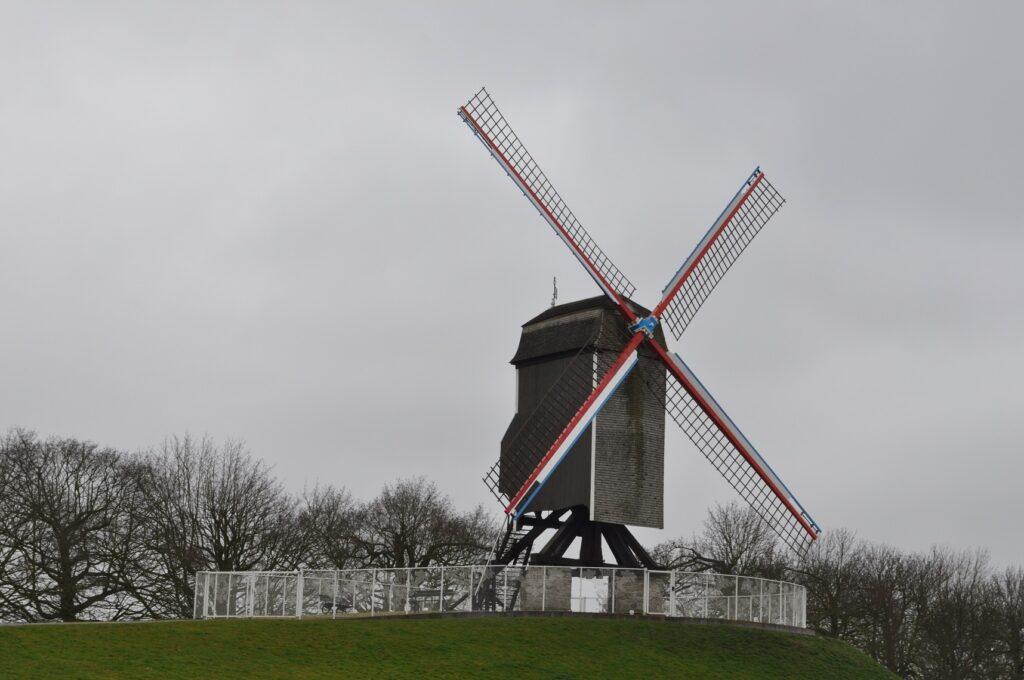 Brugge látnivalók: szélmalmok