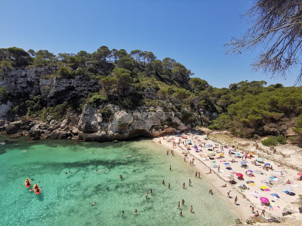 Menorca látnivalók: Cala Macarelletta